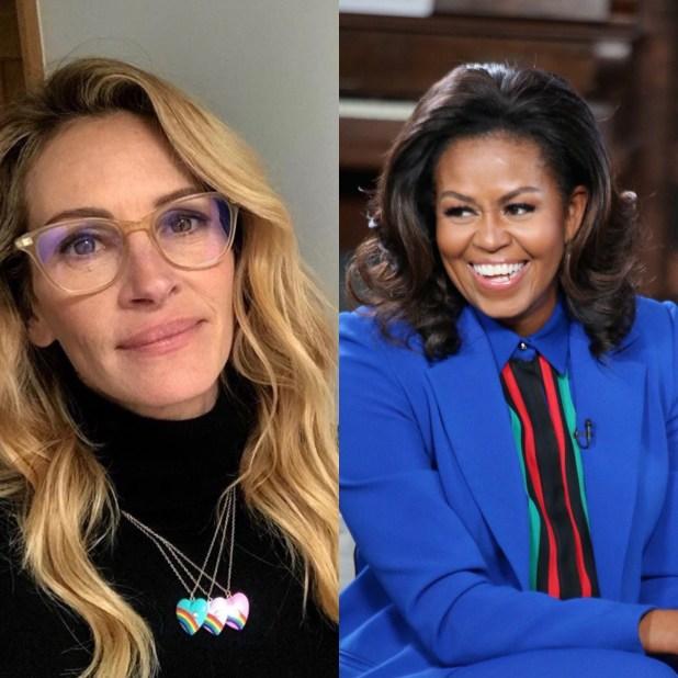 Julia Roberts and Michelle Obama