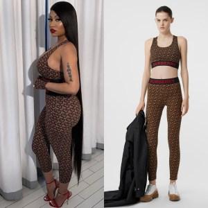 Nicki Minaj in Burberry