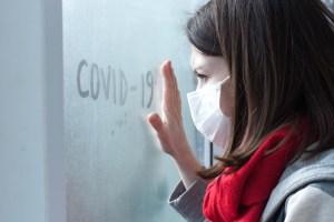 Woman with coronavirus