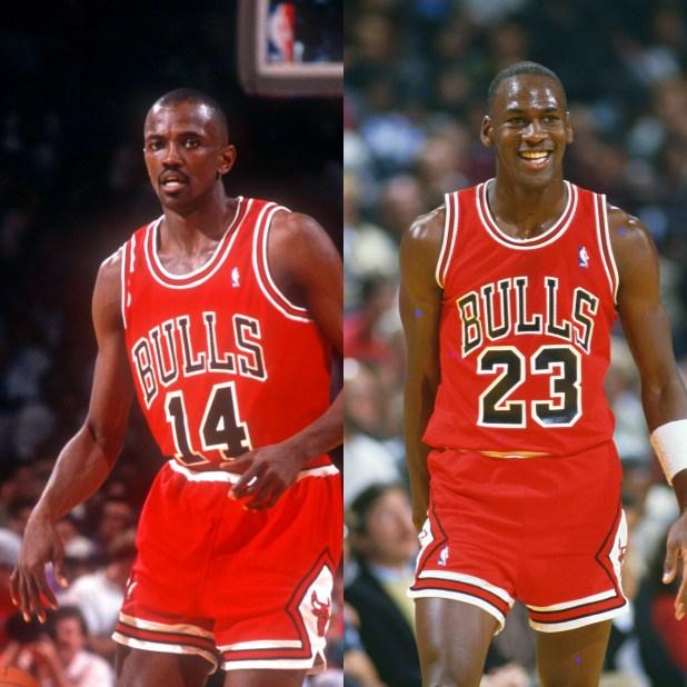 Michael Jordan and Craig Hodges