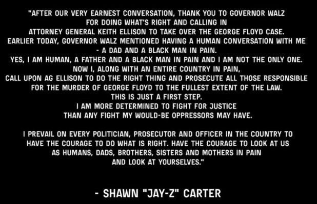 Jay Zs Statement