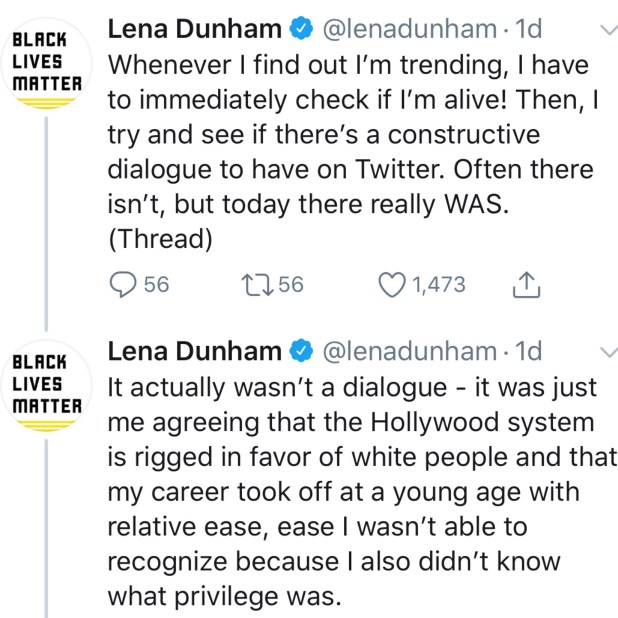Lena Dunham Speaks OUt
