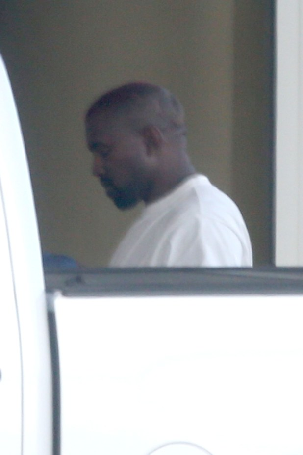 Kanye West visits the hospital