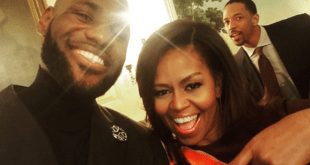 LeBron James and Michelle Obama