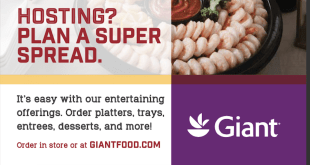 Giant Foods Magazine Ad -The advertisement in the December issue of Giant's magazine, Savory.