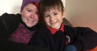 Gemma Holmes with son - SWNS.com