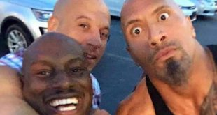 Tyrese, The Rock and Vin Diesel