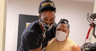 Bam Adebayo and his mother Marilyn Blount