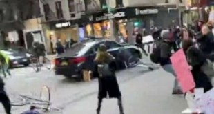 Woman Was Charged With Reckless Endangerment After Driving Into A Crowd Of Protesters In NYC