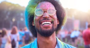 black man at festival