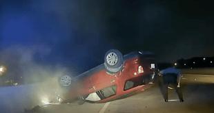 officer flips pregnant womans car