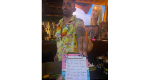 bartender fakes note as receipt