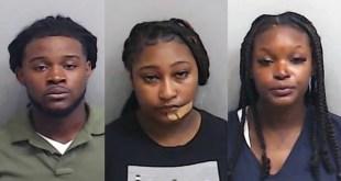 Jordan Jarrode Richards-Nwankwo (left), Lorkeyla Jamia Spencer (center), and Brittney Monique Mills (right)