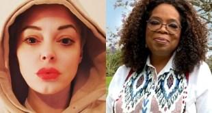 Oprah Winfrey and Rose McGowan