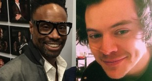 Billy Porter and Harry Styles