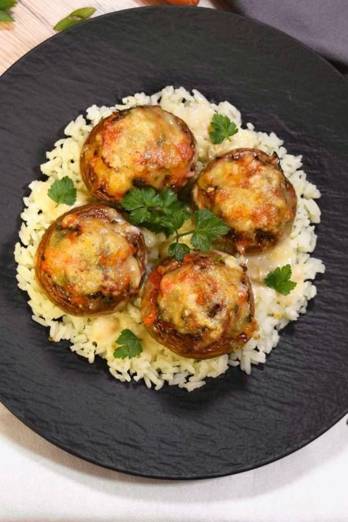 Gefüllte Champignons mit Käse überbacken-Pilze-ballesworld