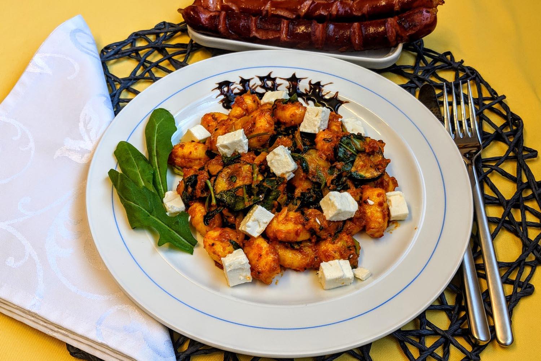 Gnocchi Salat mit gebratenem Gemüse Rezept