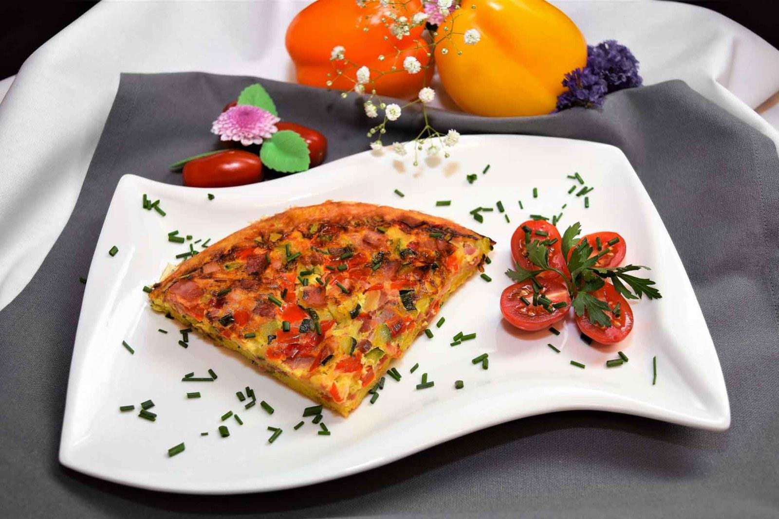 Gemüse Brot Omelett-Rezept-ballesworld