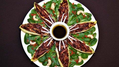 Chicorée-Möhren auf Feldsalat
