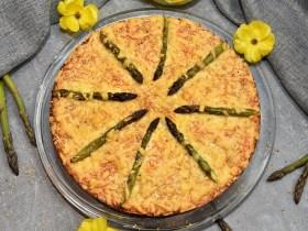 Tortilla Kuchen mit grünem Spargel Rezept