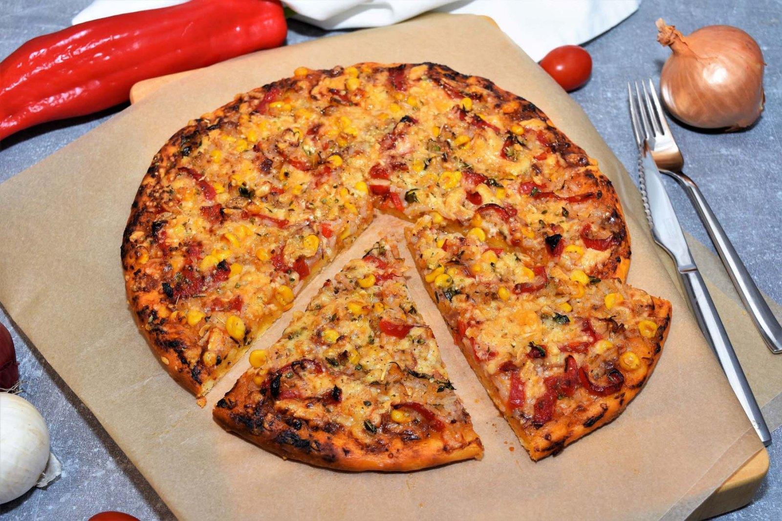 Pizza mit Reis Rezept