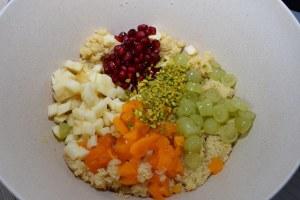 Couscous Salat mit Pflaumenkernöl Zubereitung 3