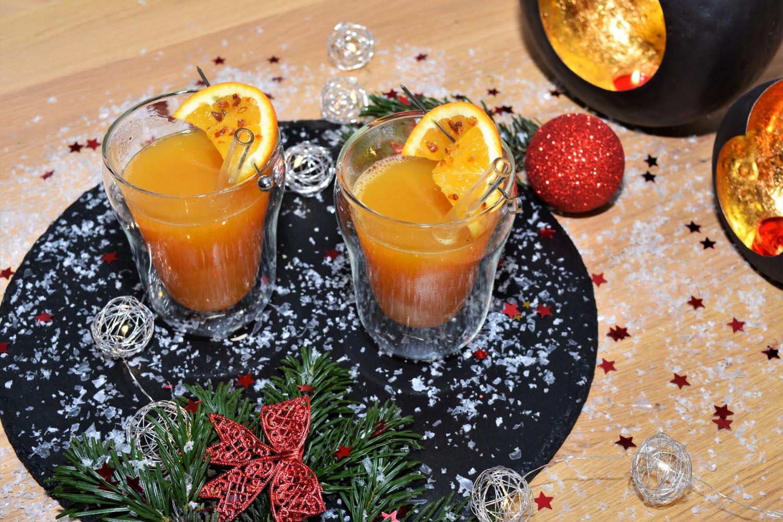 Kürbis Orangen Punsch
