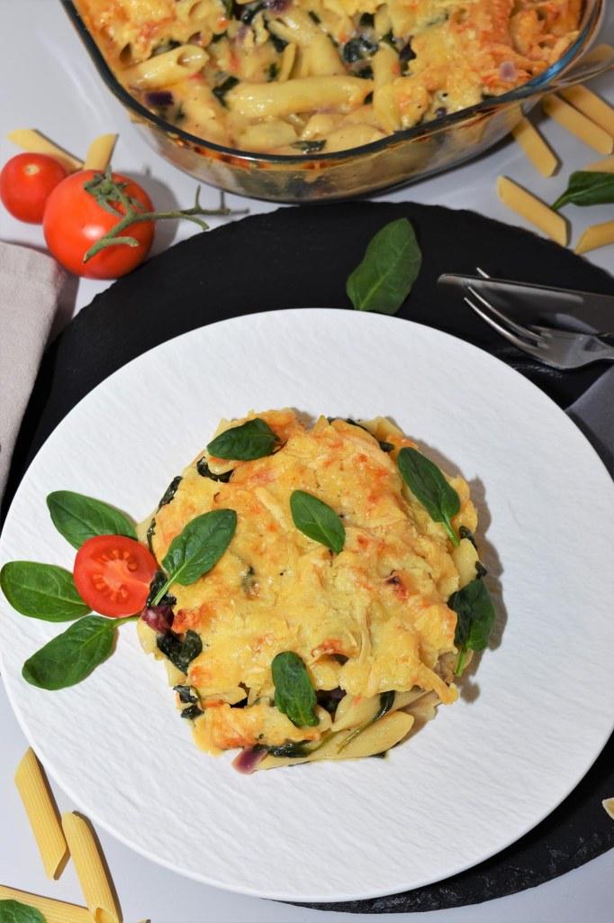 Nudel-Spinat-Auflauf-mediterrane Küche