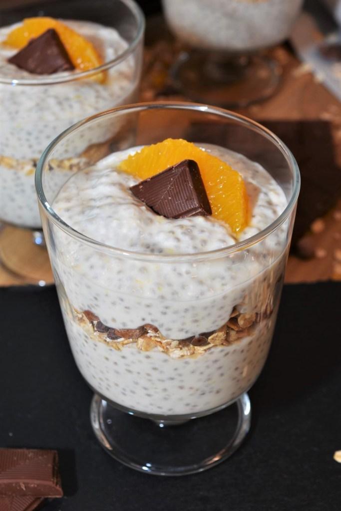 Orangen-Chia-Dessert-Vegane
