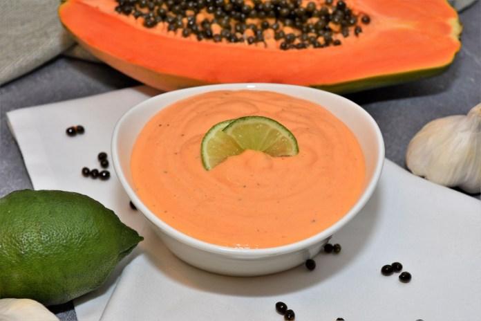 Papaya Aioli Snack Dip Rezept