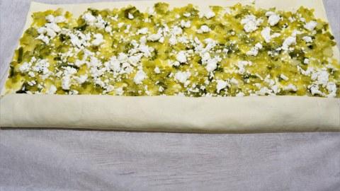 Schnecken mit Lauch und Käse