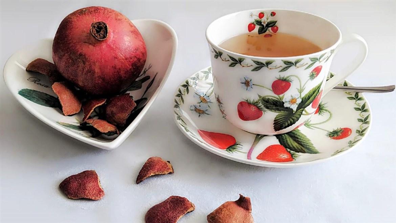 Granatapfelschalen Tee Gesund