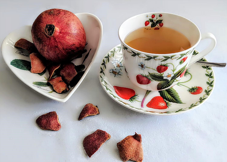 Granatapfelschalen Tee Rezept