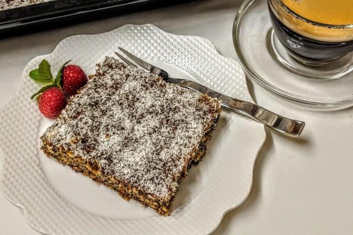 Veganer Mohn-Kuchen Dessert