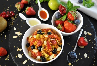 Fruchtiger Bulgur Salat mit Sanddorn Rezept
