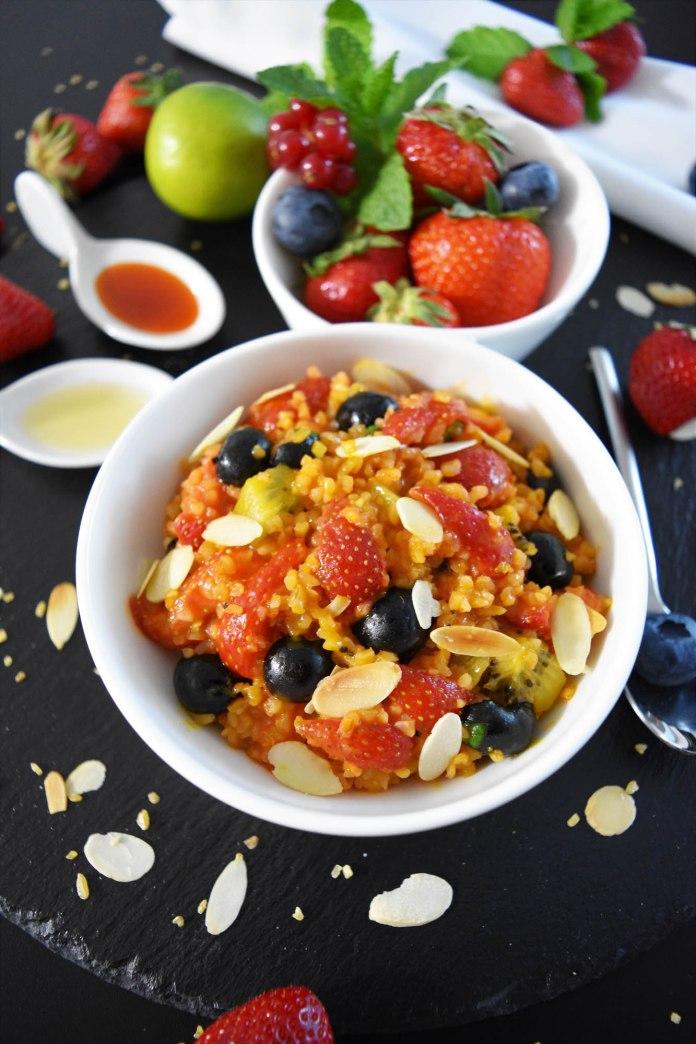 Fruchtiger Bulgur Salat mit Sanddorn Türkisch