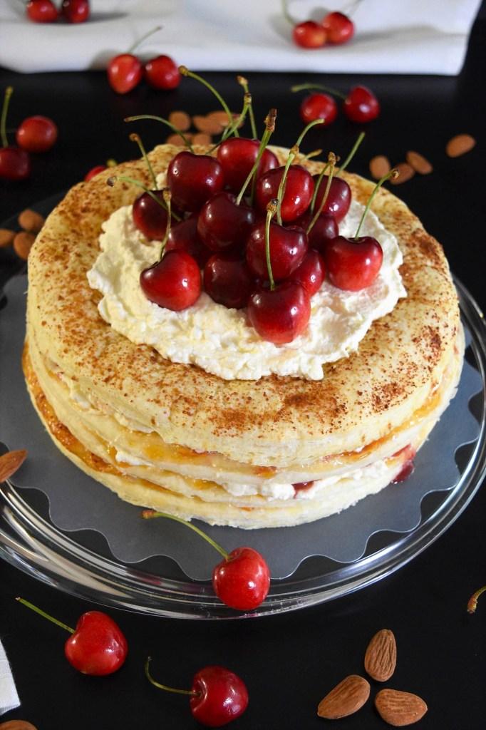 Blätterteig Kuchen mit Kirschen-Rezeptidden-BallesWorl