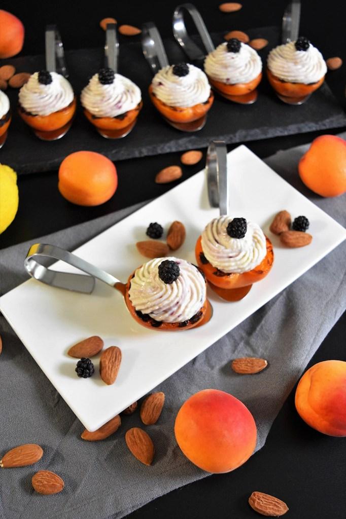Grill Aprikosen mit Ricotta und Mandeln-Nachtisch-BallesWorld