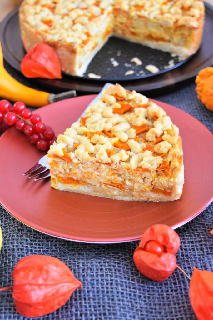 Kürbis Streuselkuchen mit Vanillesahne Pudding-Eigene Rezept-ballesworld