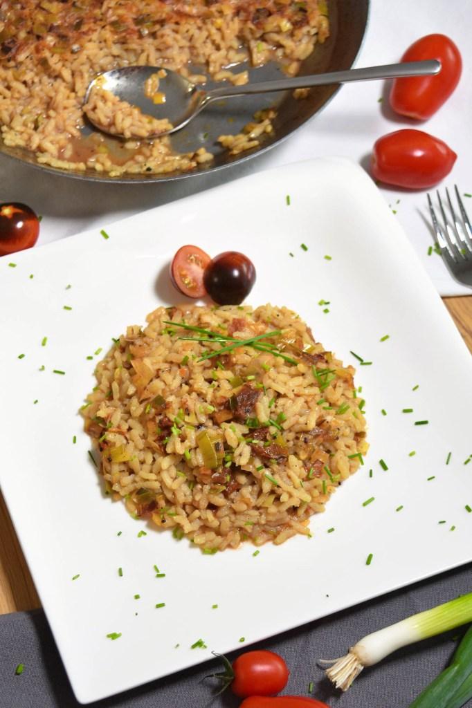 Reis-Lauch-Tomaten Auflauf-Vegan-ballesworld