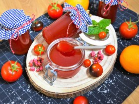 Tomatenmarmelade mit Orange-Rezept-ballesworld