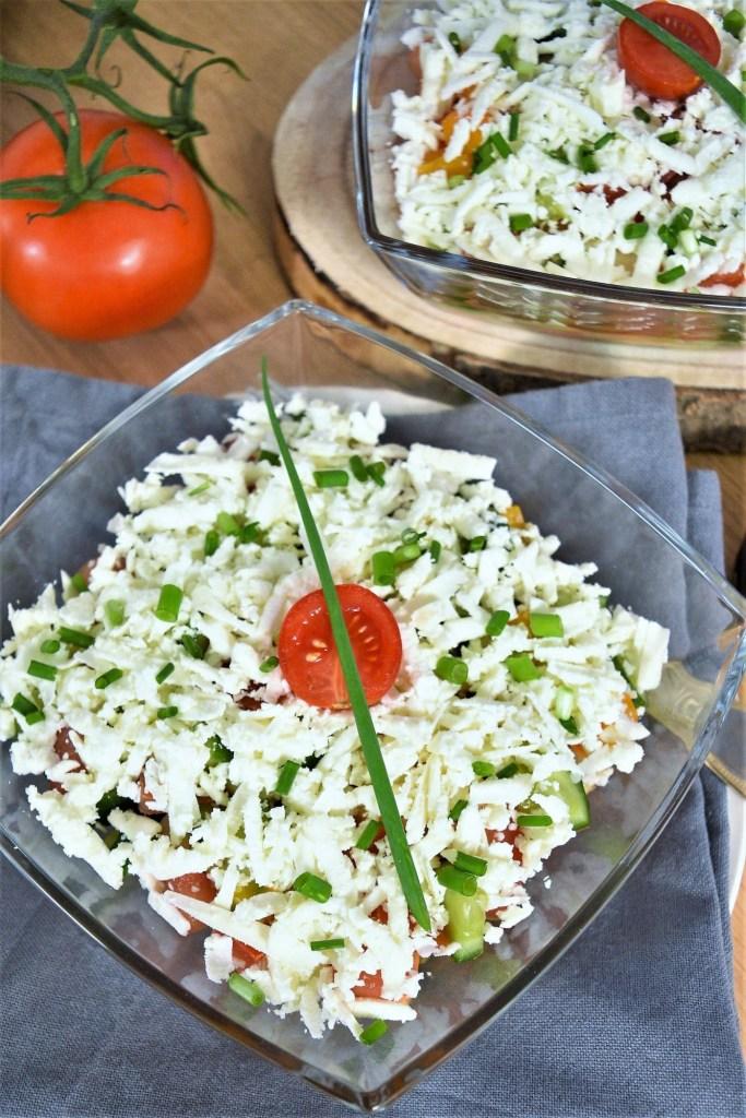Bauern Salat nach mazedonischer Art-Gesund-ballesworld