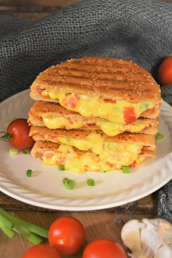 Sandwich vom Kontaktgrill-Fingerfood-ballesworld