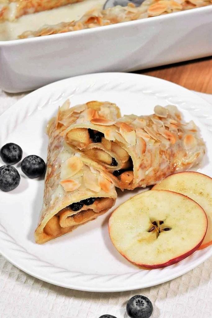 Überbackene Apfel-Korinthen Pfannkuchen-Crepes-ballesworld