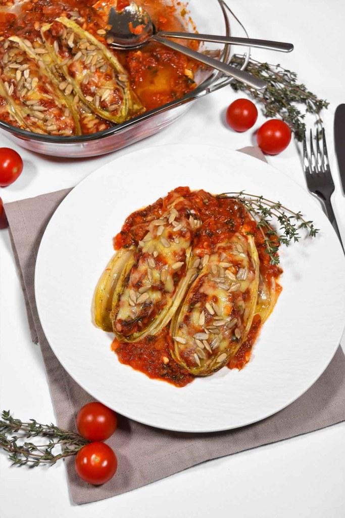 Chicorée-Tomaten-Auflauf -Gesunde Essen-ballesworld