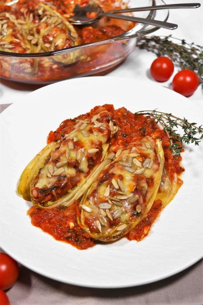 Chicorée-Tomaten-Auflauf -Vegetarisch-ballesworld