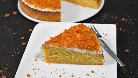 Möhren Orangen Kuchen mit Crunch-Anrichten-ballesworld