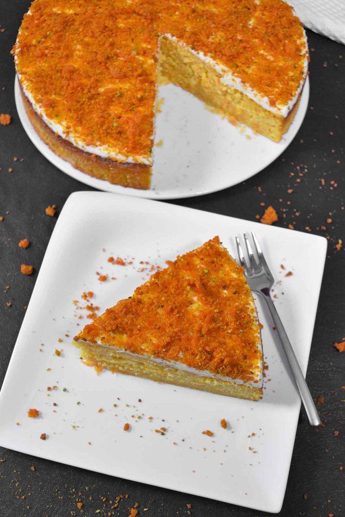 Möhren Orangen Kuchen mit Crunch-Karottenkuchen-ballesworld