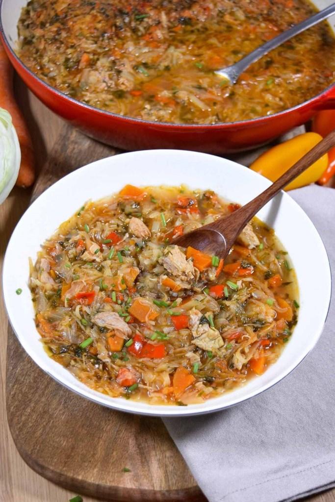 Ofen-Weißkohl mit Hähnchenfleisch-Mittagessen-ballesworld
