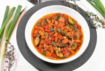 Zucchini Auberginen Pfanne-Rezept-ballesworld